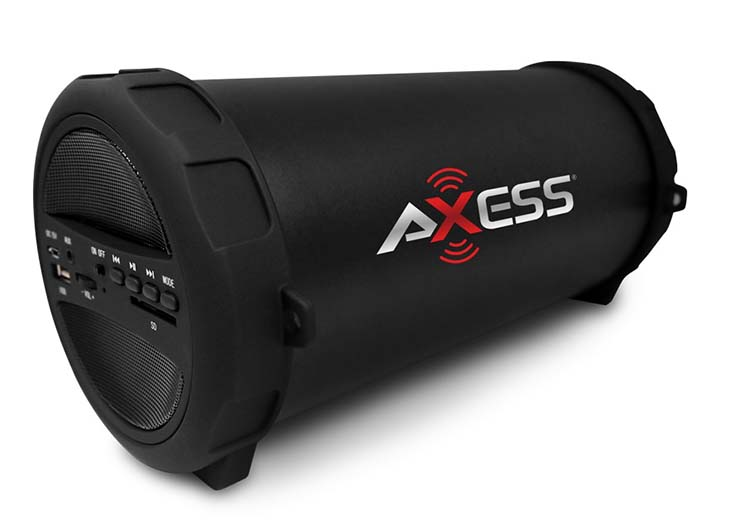 "USB//SD//AUX FM Radio AXESS SPBT1041 3/"" Rechargeable Cylinder Speaker Bluetooth"