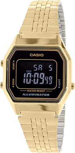 78b8d549773 Casio Women s Illuminator Digital Gold Tone Stainless Steel Watch ...