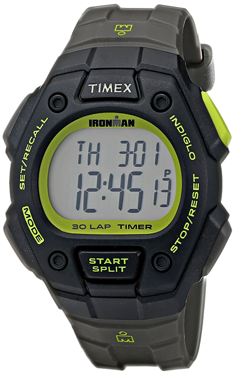5ce95022f133 This Timex men s Classic digital watch features a gray dial. All of these  are framed in a black tone resin case