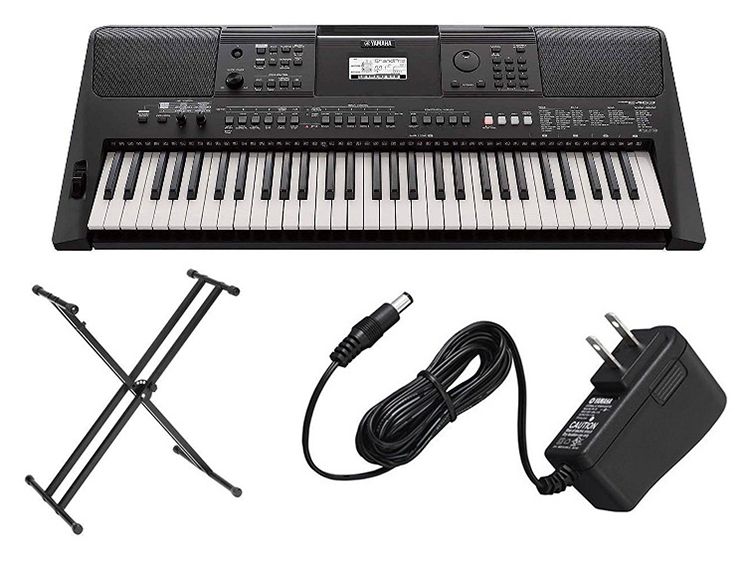 Details about Yamaha 61-Key Touch Sensitive Keyboard w/ Double X-Style  Stand & Power Adapter