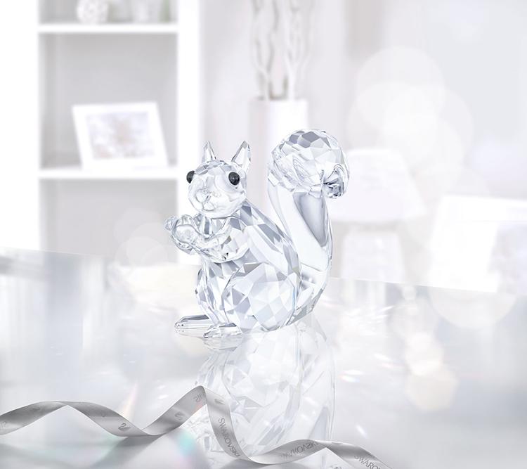 9ce3f88a9673 Swarovski Squirrel 537 Sparkling Facets Clear Crystal Figurine 5135941