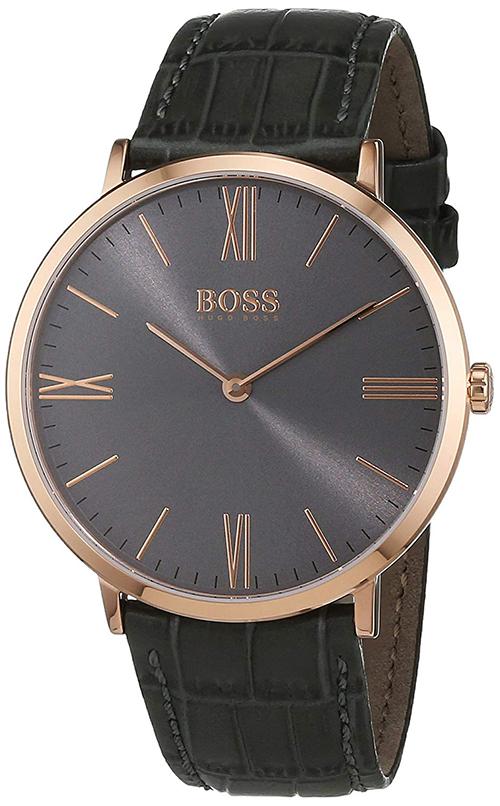 d6f26739d Details about Hugo Boss Men's Jackson Quartz Stainless Steel/Grey Leather  Watch 1513372