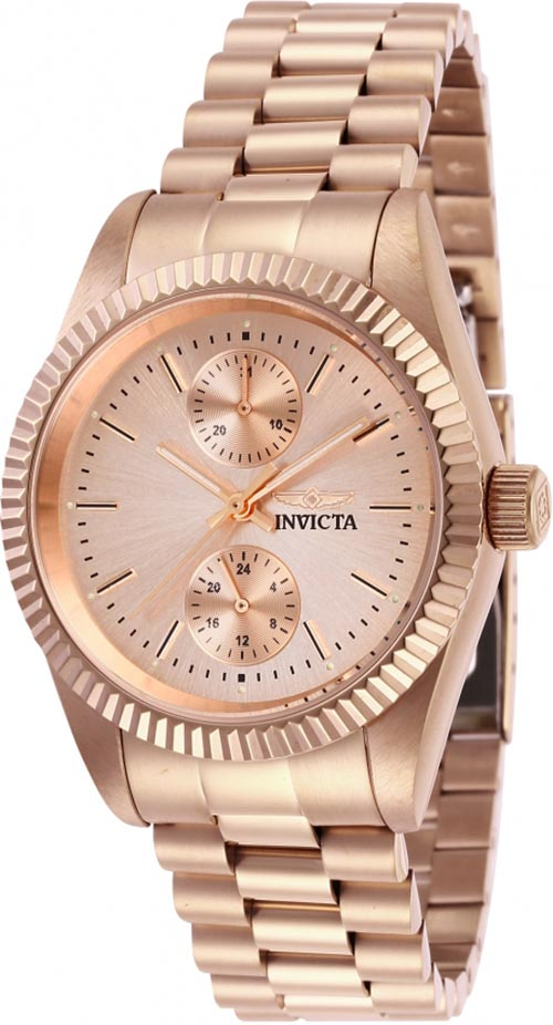 d7bce482df9 Invicta Women s Specialty Quartz Chrono Rose Gold Stainless Steel Watch  29450