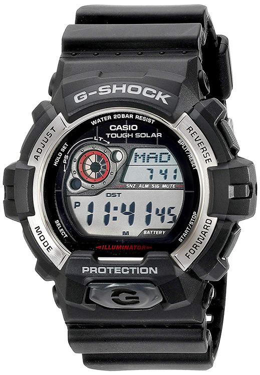 Casio G-Shock Digital Tough Solar 200m Black Resin Watch